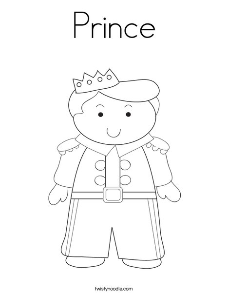 Princes Coloring Pages - Prince Coloring Page Twisty Noodle