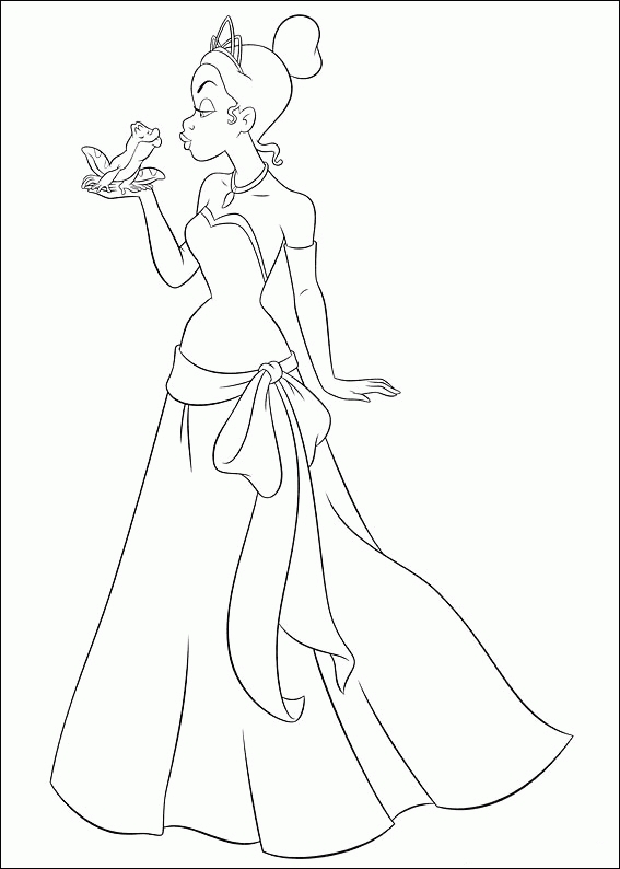 princess and the frog coloring pages - princess and the frog coloring pages