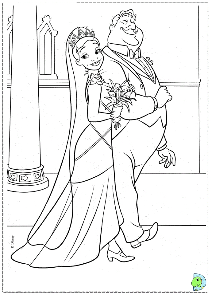 princess and the frog coloring pages - 005 coloring Princess frog 59