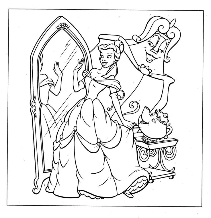 princess belle coloring pages - coloring pages beauty and the beast