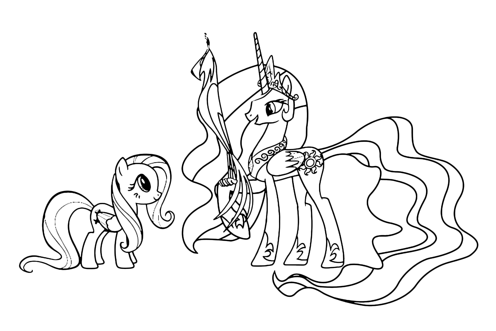 princess celestia coloring page - from my little pony princess celestia coloring pages sketch templates