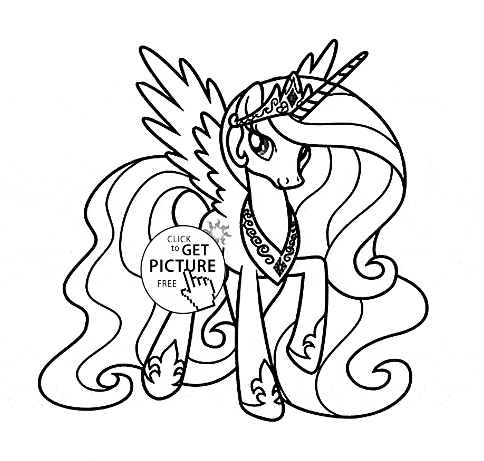 princess celestia coloring page - my little pony princess celestia coloring pages sketch templates