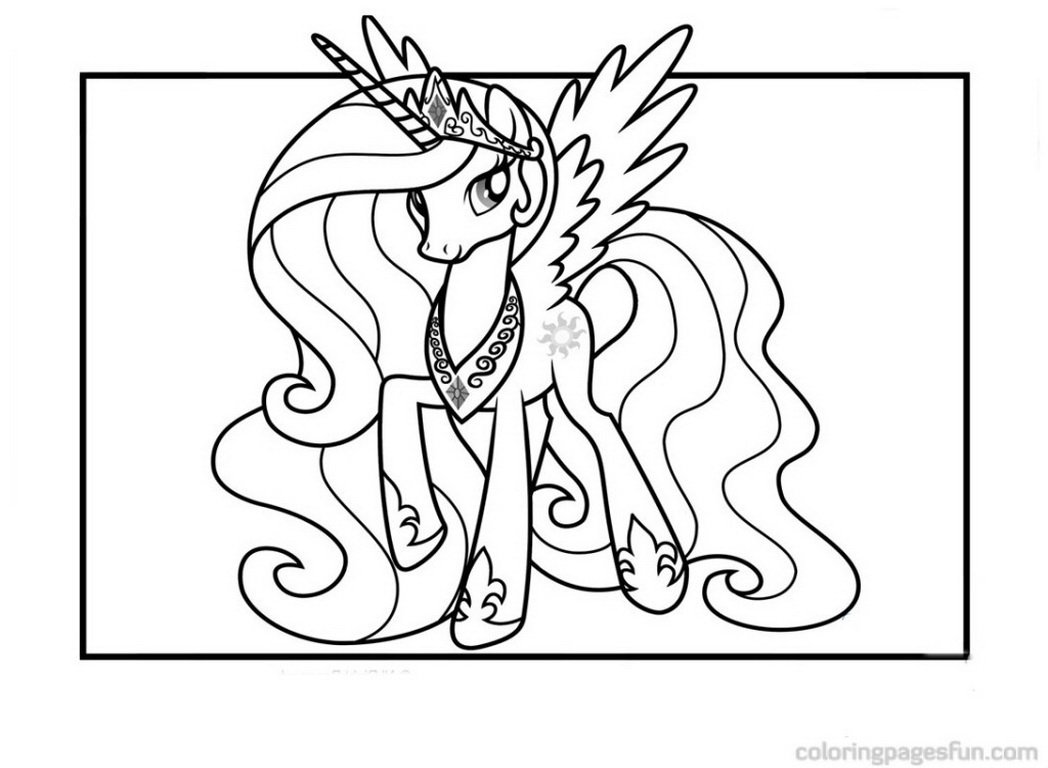 princess celestia coloring page - princess celestia coloring pages free printable