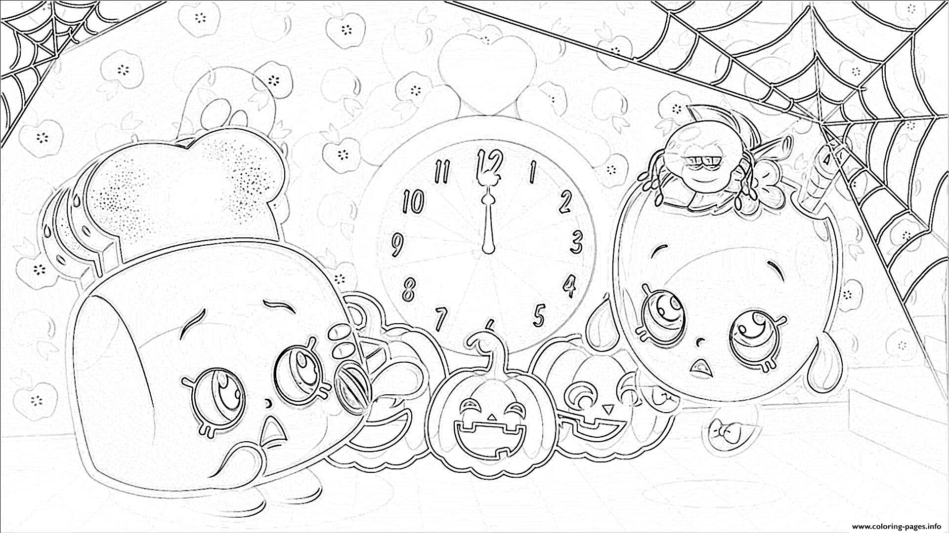 princess coloring pages - shopkins halloween pumpkins printable coloring pages book