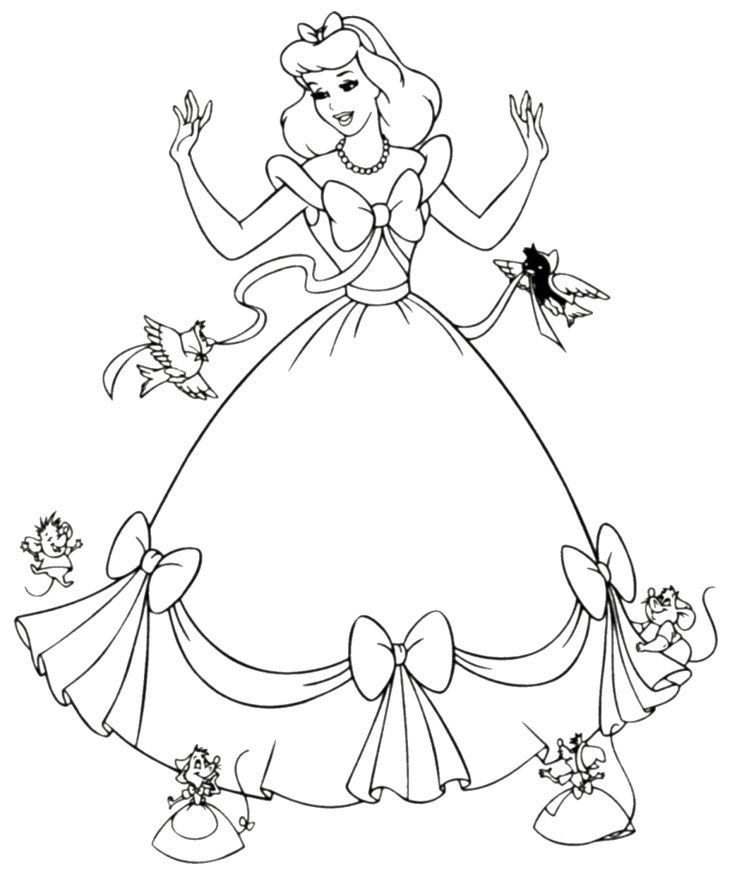 princess coloring pages to print - 199