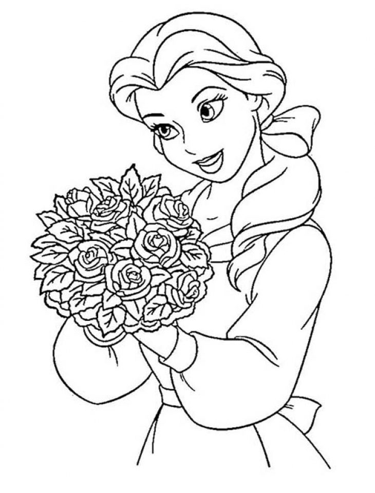 Princess Coloring Pages to Print - 87 Belle Coloring Pages Good Princess Belle