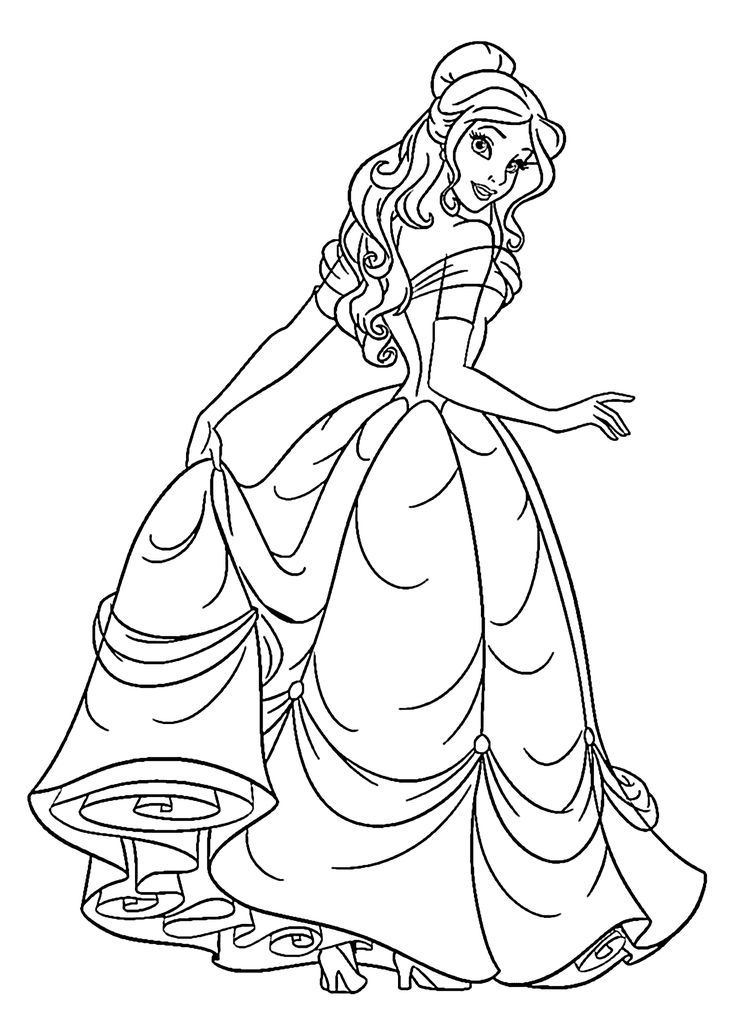 princess coloring pages to print - colouring pages for kids