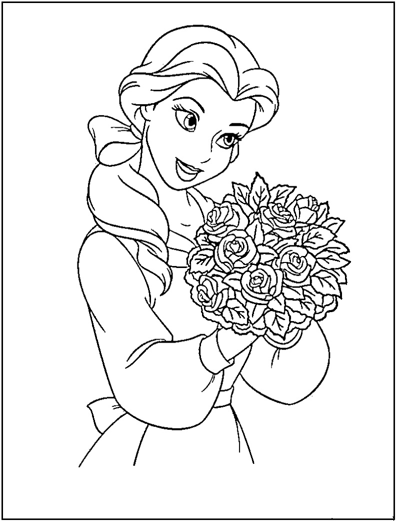princess coloring pages to print - disney princess coloring pages free