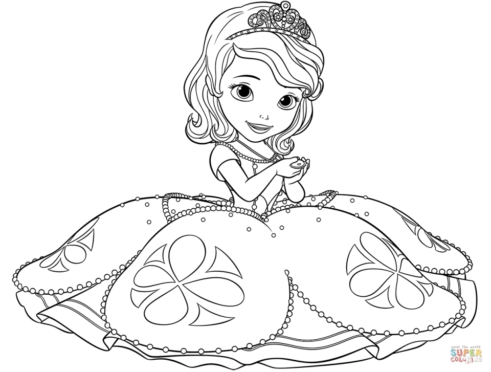 princess coloring pages to print - princess sofia the first coloring pages to print out for girls