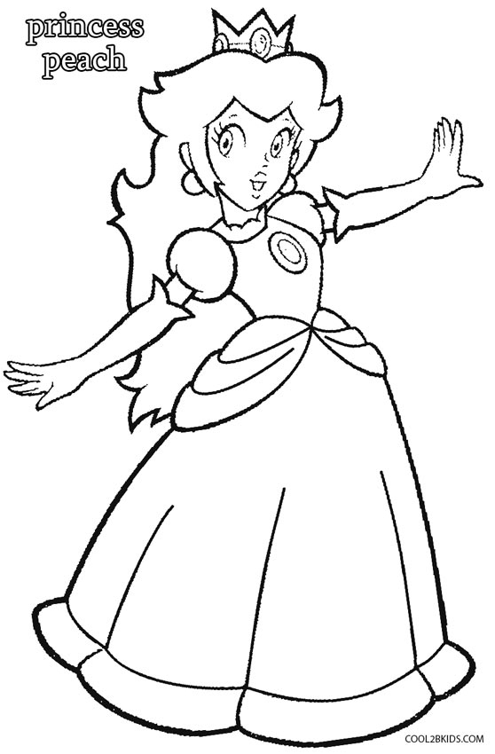 princess coloring pages to print - princess peach coloring pages