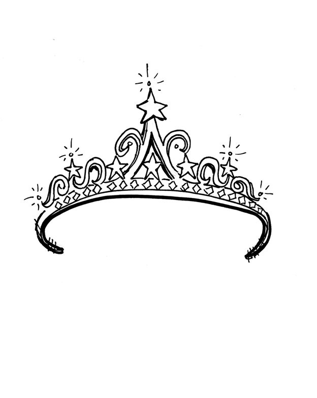 princess crown coloring page - crown templates