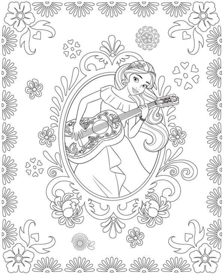 princess elena coloring page - elena davalor