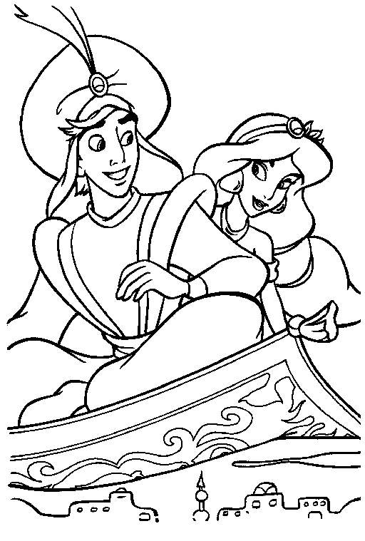 princess jasmine coloring pages - aladdin and the king of thieves coloring pages
