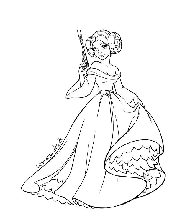 Princess Leia Coloring Pages - Dprincess Leia Coloring Pages