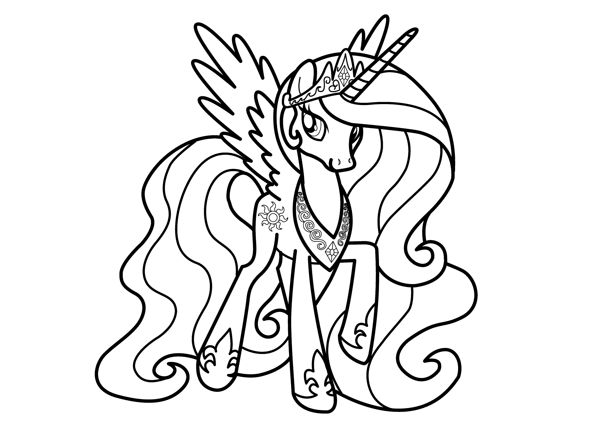 28 Princess Luna Coloring Pages Printable | FREE COLORING PAGES