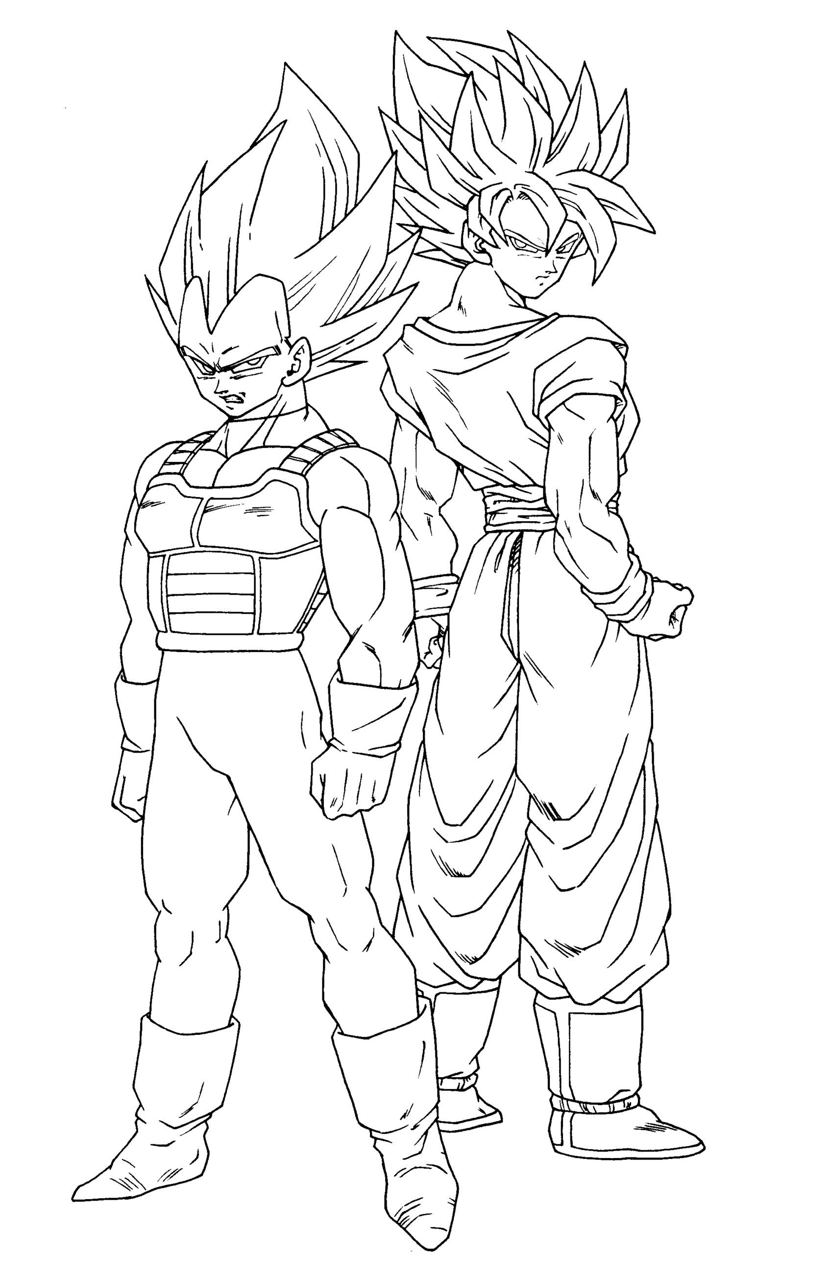 princess peach coloring pages - dragon ball z coloring pages ve a and goku