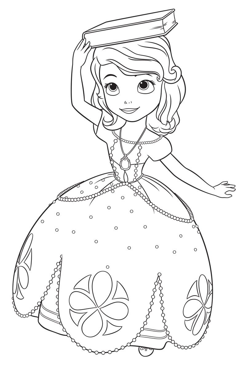 princess sofia coloring pages - sofia the first coloring pages