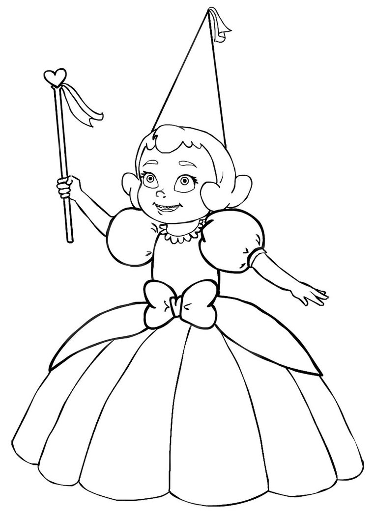 princess tiana coloring pages - Baby Charlotte lines