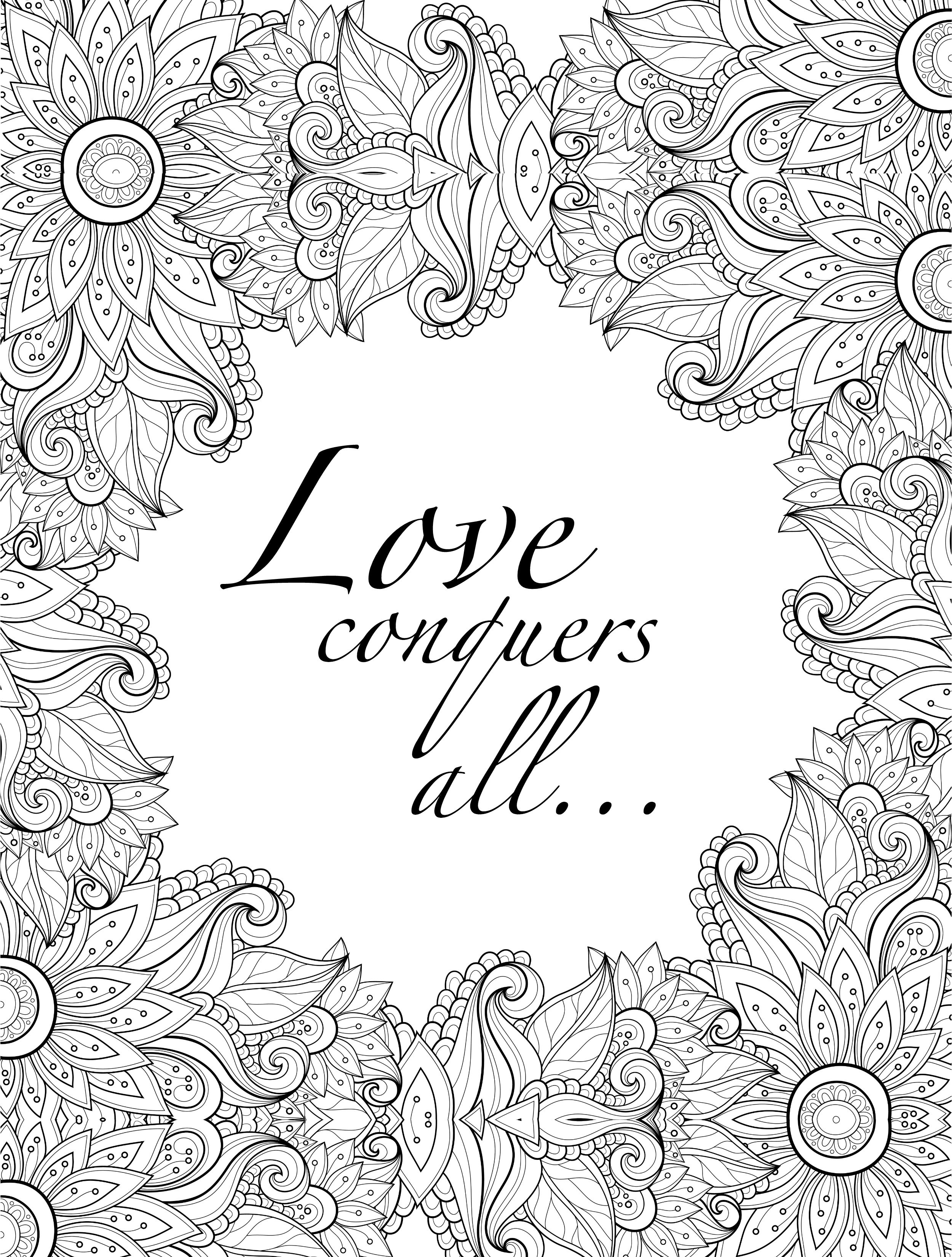 picture relating to Free Printable Adult Coloring Pages Quotes named 20 Printable Grownup Coloring Internet pages Offers Final decision Absolutely free