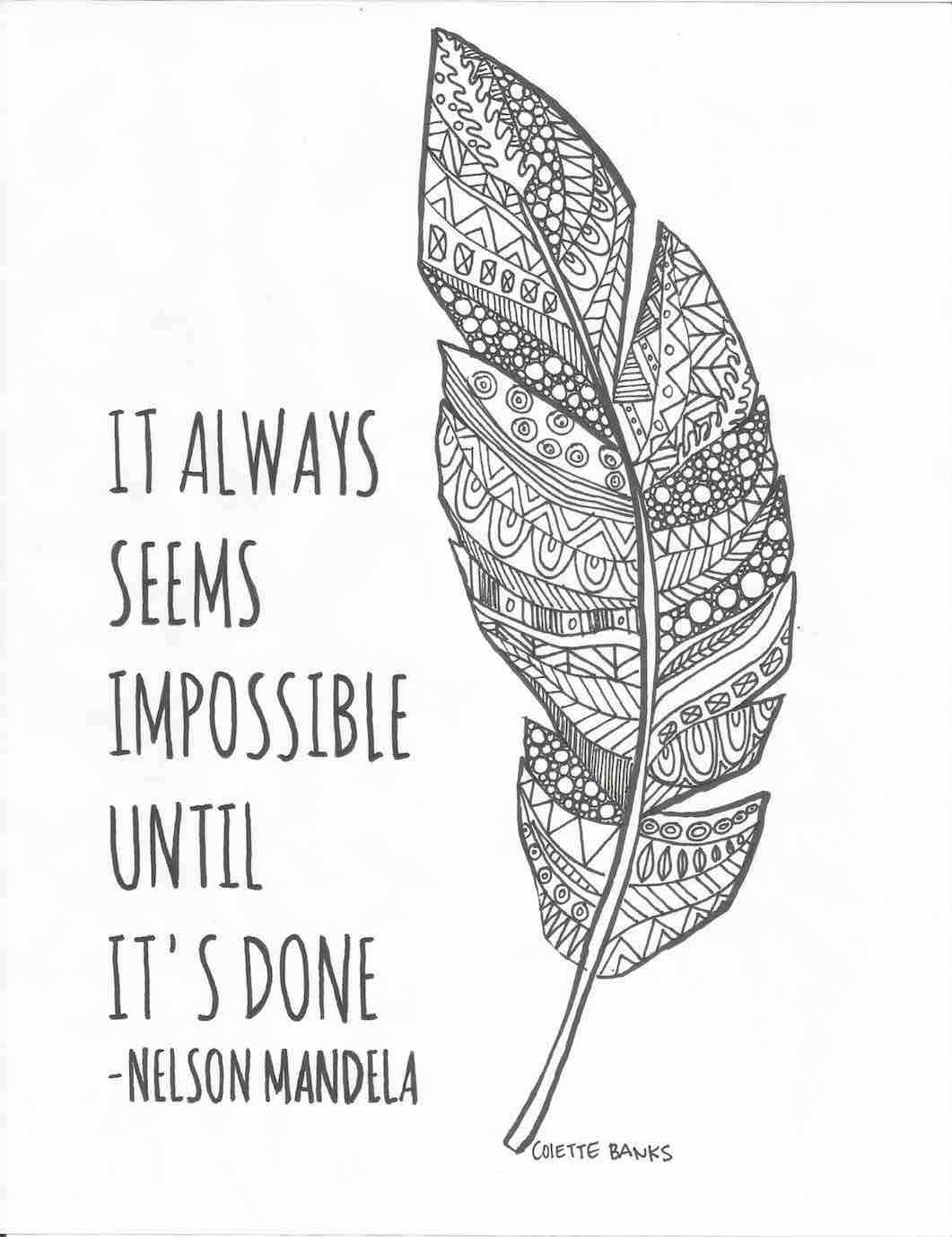 image regarding Printable Adult Coloring Pages Quotes known as 20 Printable Grownup Coloring Web pages Quotations Variety Free of charge