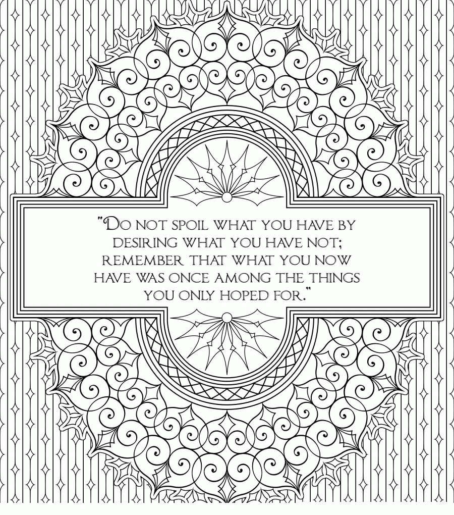 20 printable adult coloring pages quotes selection free for The color of water quotes with pages