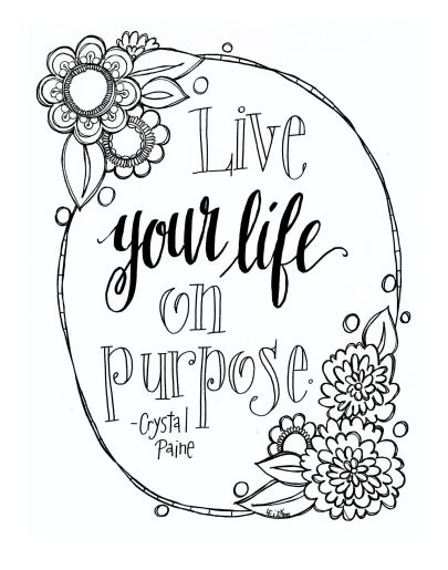 20 Printable Adult Coloring Pages Quotes Selection