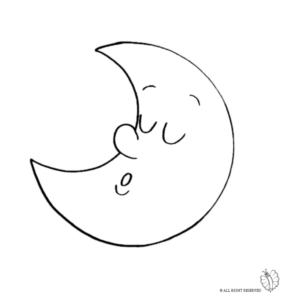 printable alphabet coloring pages - moon coloring page