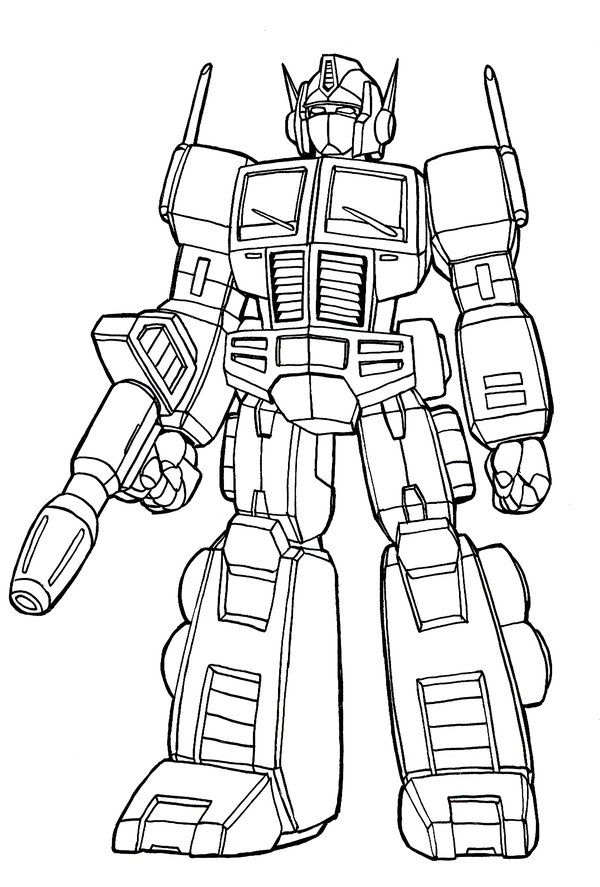 printable batman coloring pages - transformer optimus prime coloring pages
