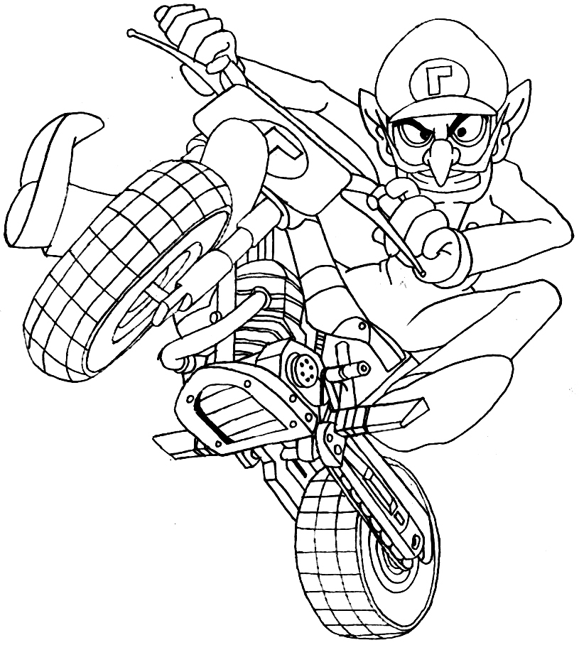 printable bird coloring pages - mario kart coloring pages