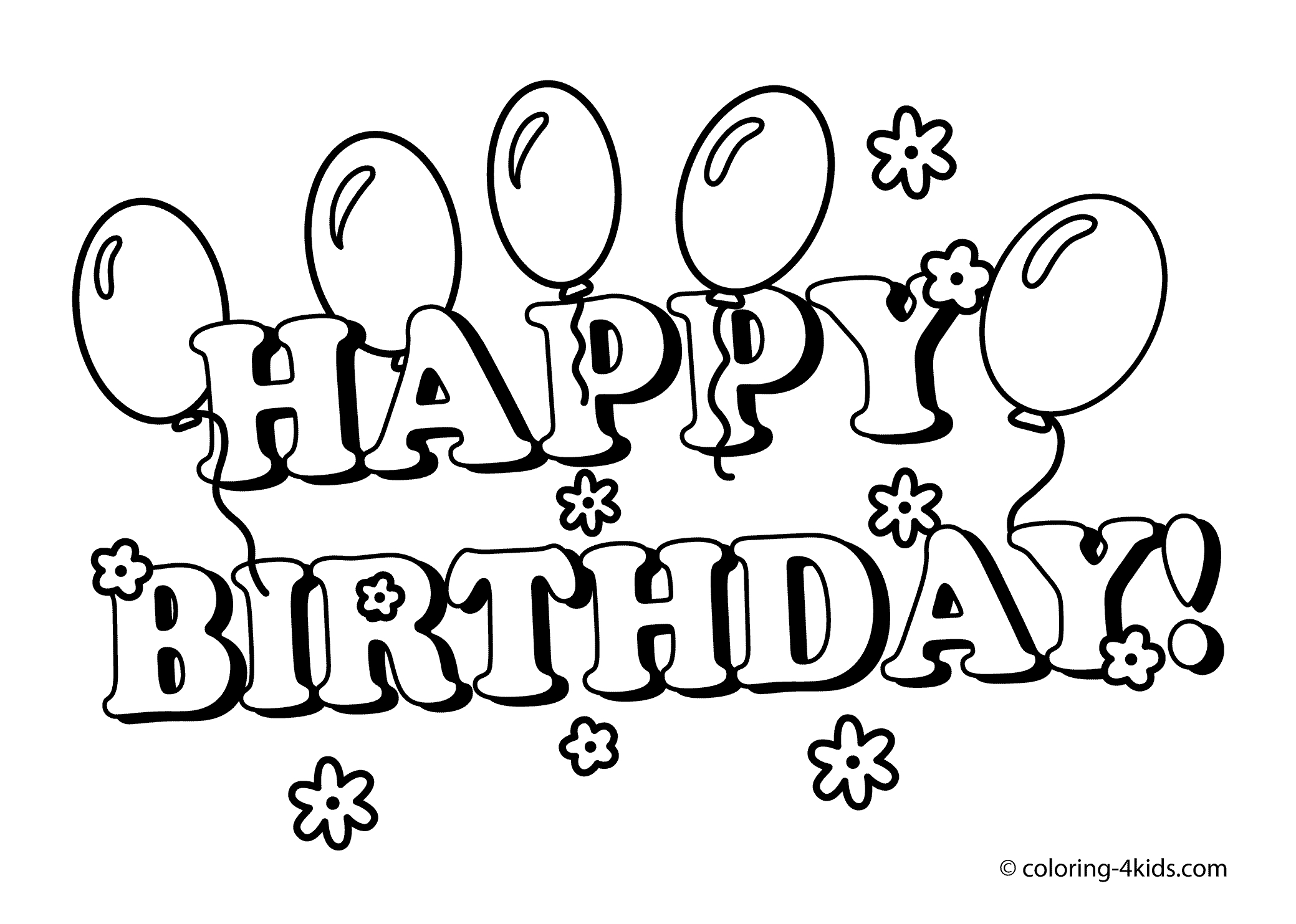 printable birthday coloring pages - free coloring media