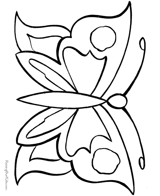 printable butterfly coloring pages - 002 butterfly coloring pages