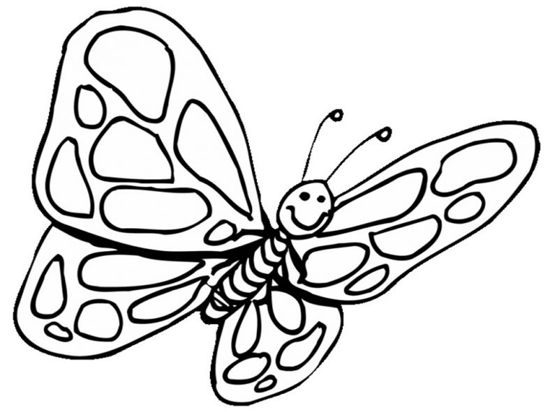 printable butterfly coloring pages - butterfly coloring pages preschool