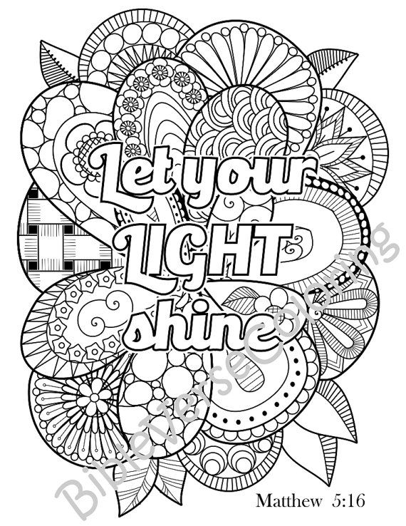 printable christian coloring pages - adult scripture coloring pages