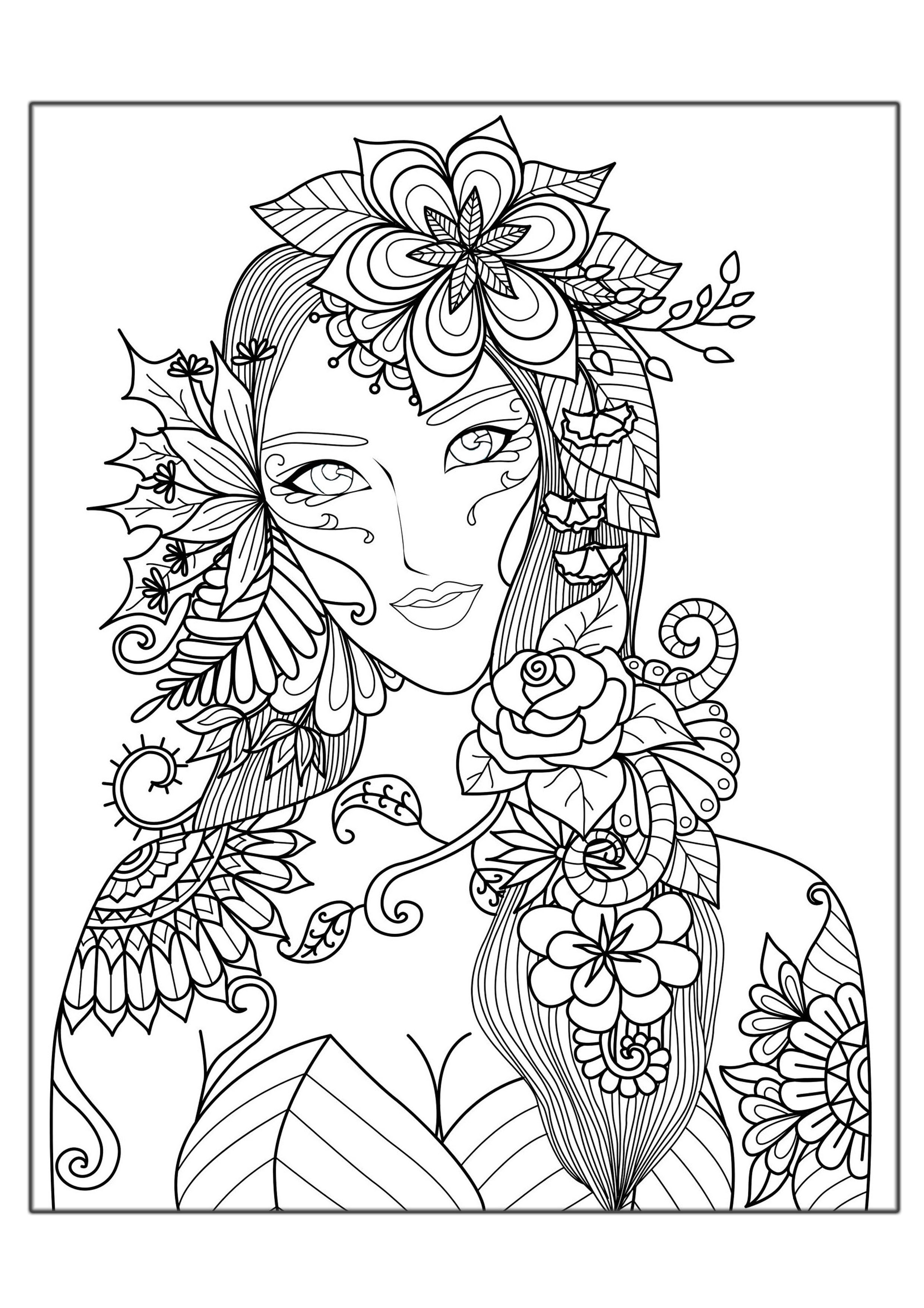printable coloring pages for adults - hard coloring pages adults