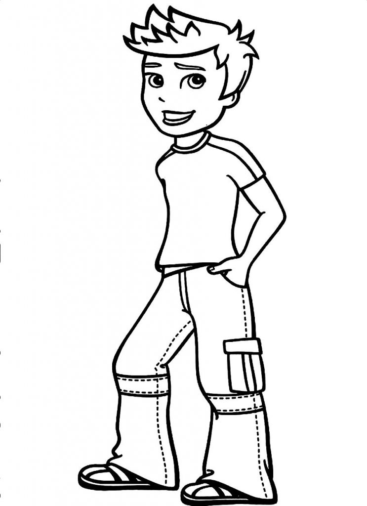 printable coloring pages for boys - boy coloring pages