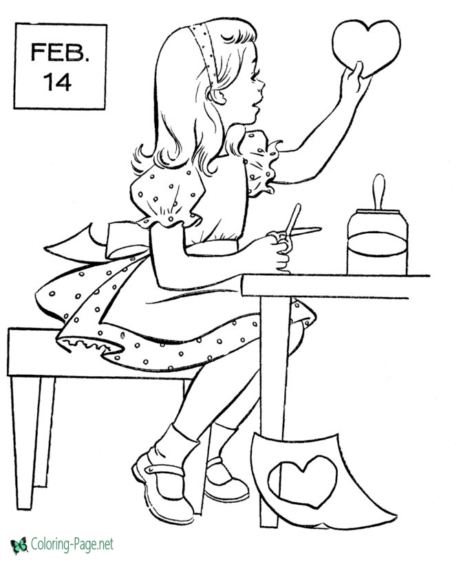 printable coloring pages for girls - valflower2