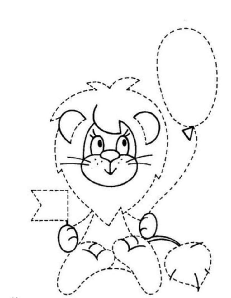 printable coloring pages for toddlers - tracing line worksheet for preschoolers 21