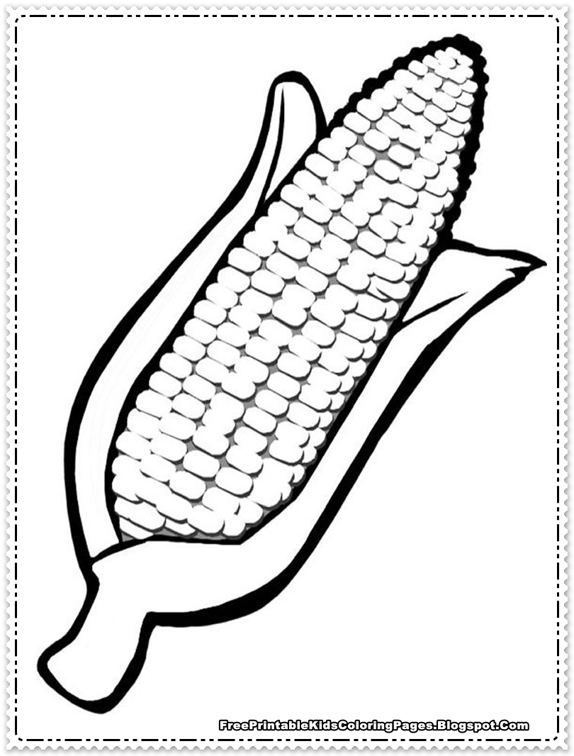 printable coloring pages - corn coloring pages printable