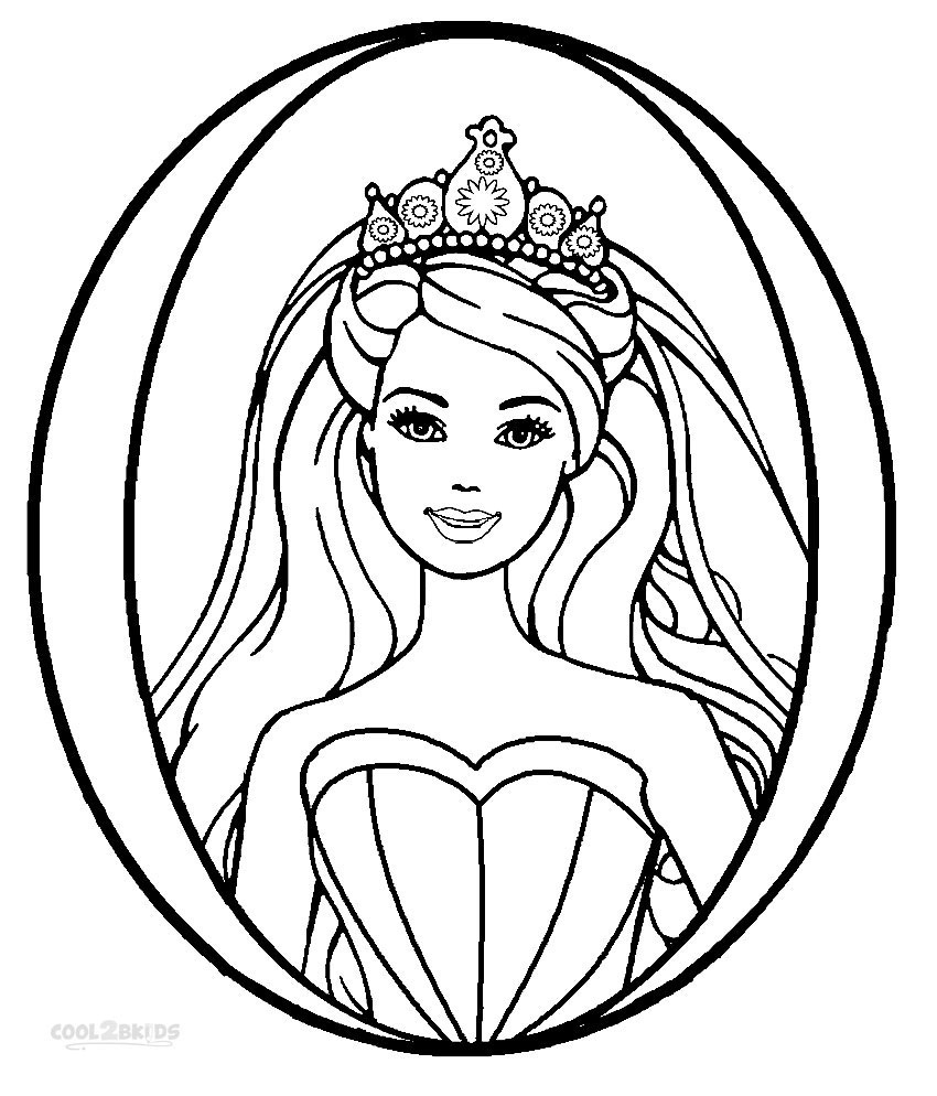 printable coloring pages - barbie princess coloring pages printable barbie princess coloring pages for kids cool2bkids images