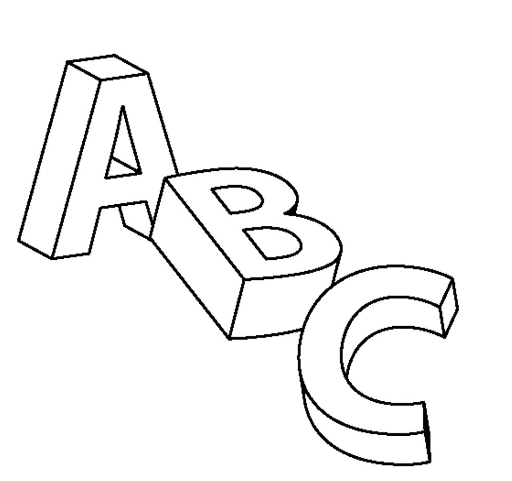 printable coloring pages - abc coloring pages