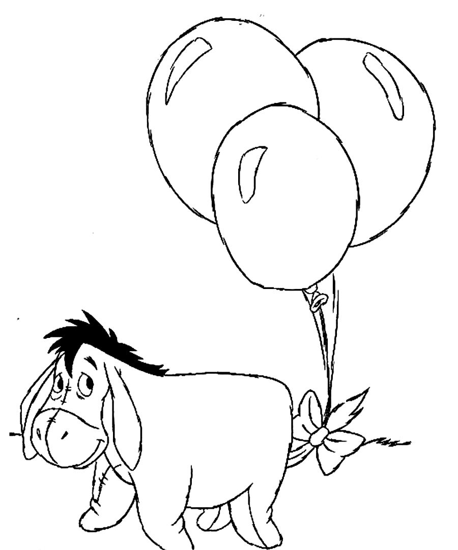 printable coloring pages - printable eeyore coloring pages