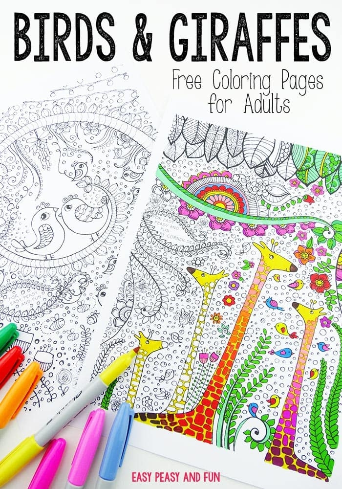 printable dolphin coloring pages - birds and giraffes coloring pages