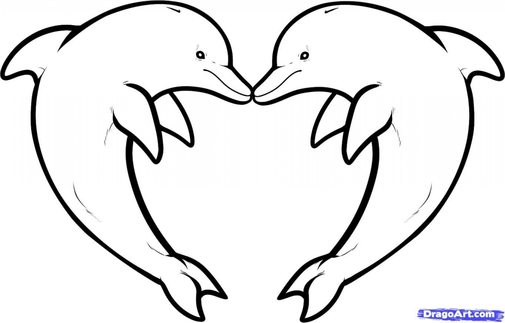 printable dolphin coloring pages - dolphin outline drawing free dolphin clipart printable coloring pages outline and silhouette