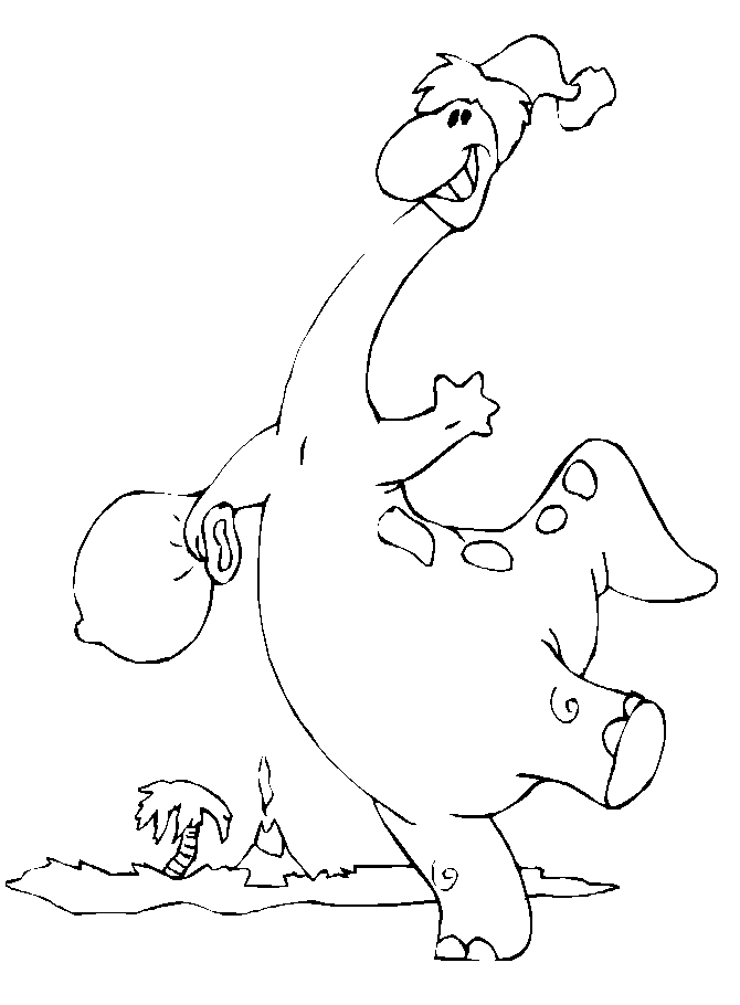 printable dolphin coloring pages - dinosaur1 christmas coloring pages 2