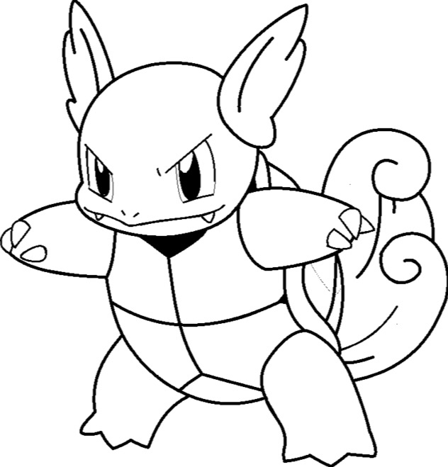 printable dolphin coloring pages - wartortle