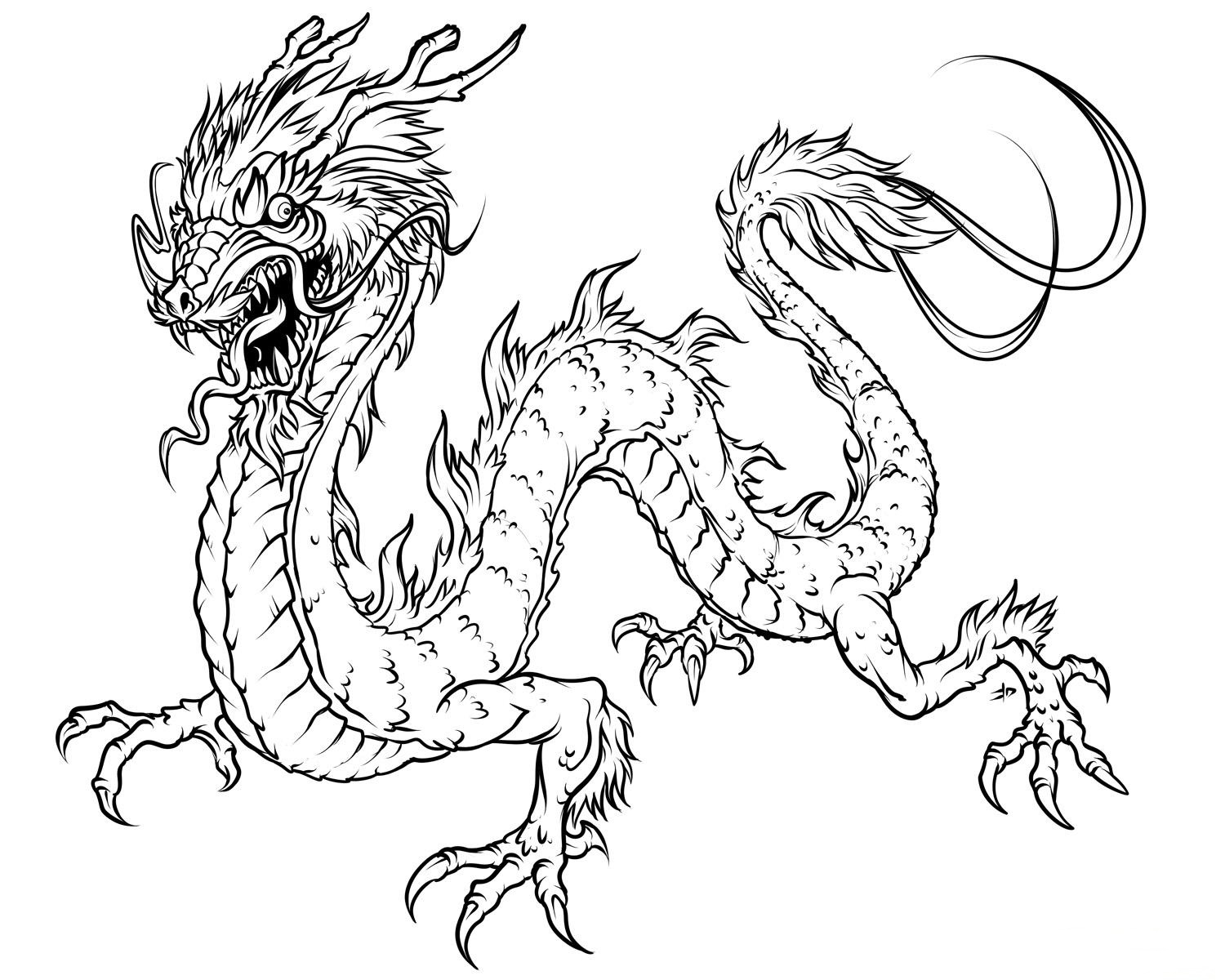 Printable Dragon Coloring Pages - Free Printable Dragon Coloring Pages for Kids