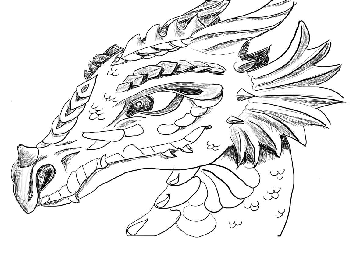 printable dragon coloring pages - skyrim dragons printable coloring pages sketch templates