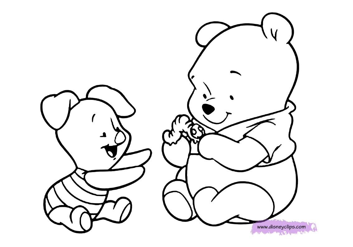printable easter coloring pages - baby pooh coloring pages
