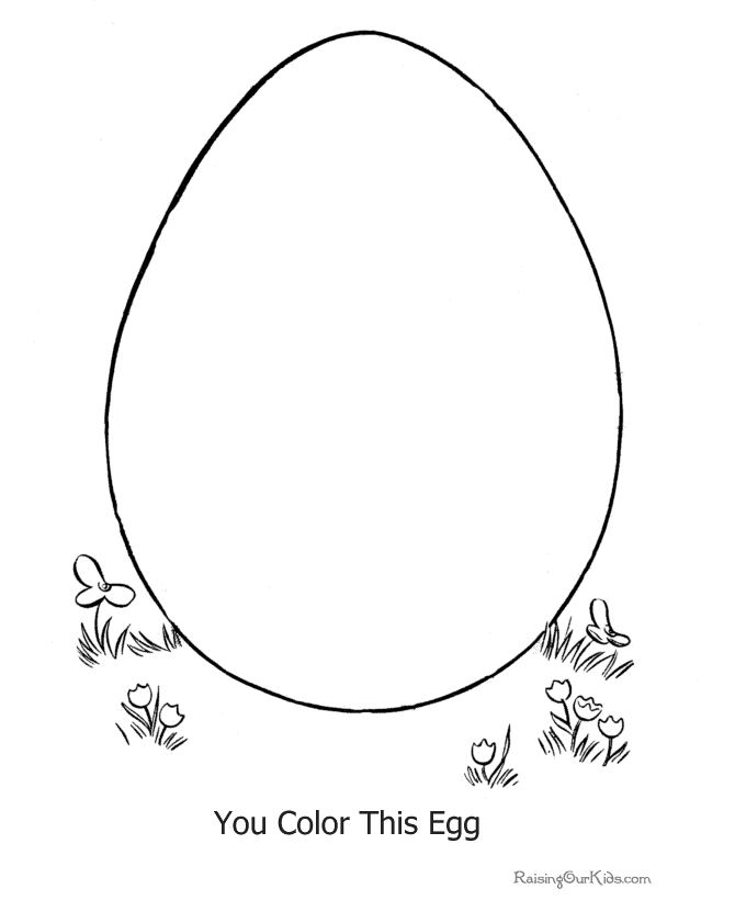 printable easter coloring pages - 013 preschool easter egg coloring