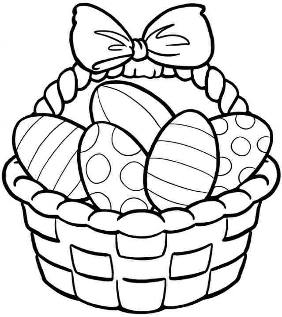 Printable Easter Coloring Pages - Printable Cool Easter Basket Coloring Pages